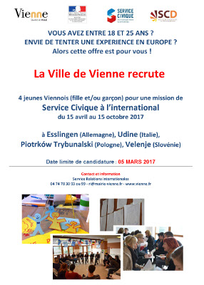 vienne international service civique 2017