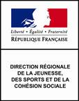 logo DRJSCS  réunion volontariat international reciprocite
