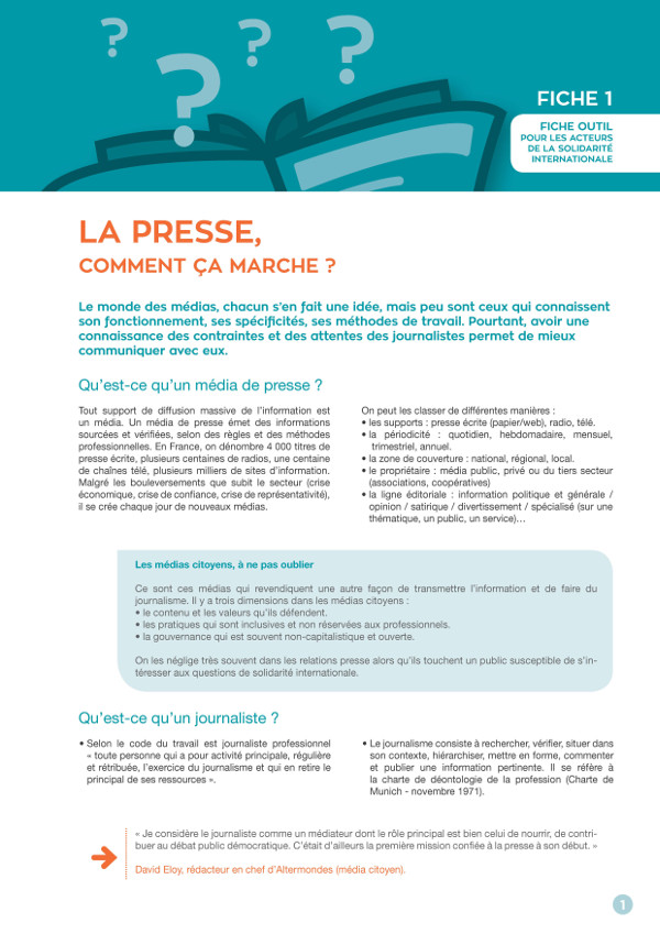 fiche outils communication resacoop relation presse